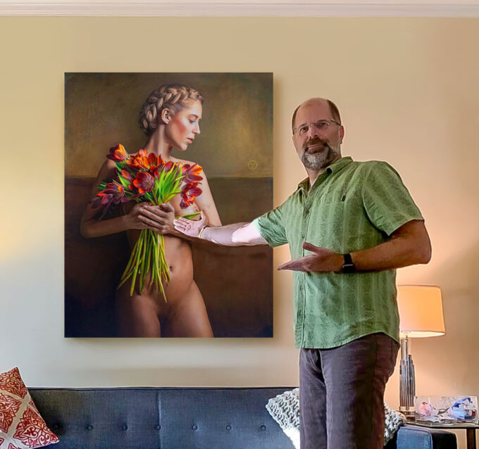 the new owner art collector Mr. P. Lueb